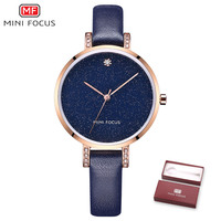 2018 Hot Sales   Watch   Women Clock   Dress     Watches   MINIFOCU Brand Ladies Casual Leather Quartz   Watch   Analog Women's Wrist   Watch   Gift