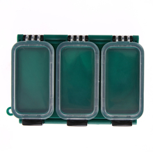 Plastic Fly Fishing Hooks Storage Box Double Side 6 Compartments Plastic Fishing Tackle Lure Bait Box Fishing Accessories Pesca