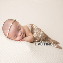 Dvotinst Baby Girls Newborn Photography Props Fotografia Accessories Mermaid Tial Blingbling Dress Costume Studio Photo Shoots(China)