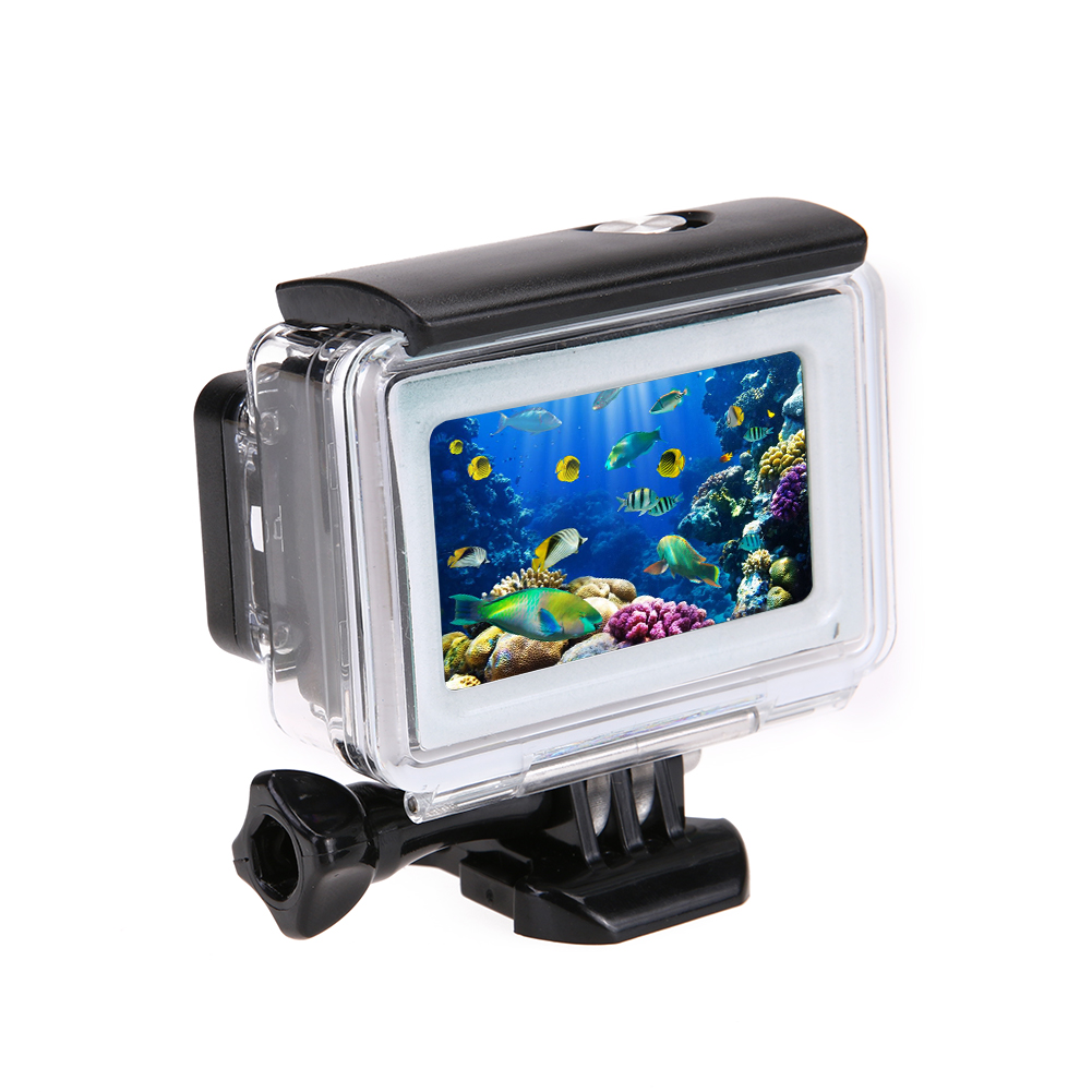 35m Diving Waterproof Touch Cover Case For Xiaomi Yi 4K 2 II Action Camera for Xiaomi Yi Protective Shell Camera Accessories for xiaomi yi camera bag small waterproof case storage cover protective box for xiaomi action camera accessories