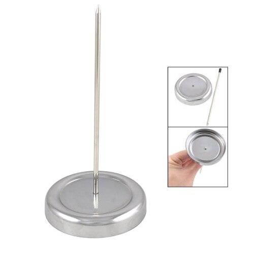 SODIAL(R) 130mm Long Straight Rod Paper Holder Spike Stick Bill Fork For Receipt Counter Desk