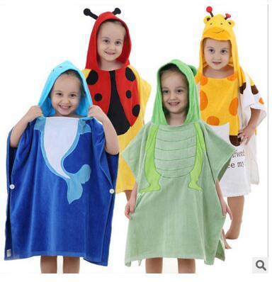 Enfants de Nouveau Peignoir Mignon Modélisation Bébé Super Doux Coton Cape Serviette Augmenter L'eau En Gros serviettes De Bain dans Bath Towels de Maison & Jardin