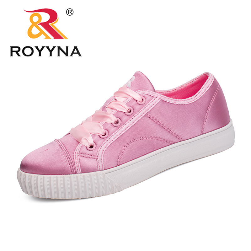 ROYYNA New Trendy Style Women Sneakers Shoes Platform Femme Casual Shoes Vulcanized Tenis Feminino Sapato Lace Up Lady Loafers royyna new cute design women sneakers shoes flower femme casual shoes mesh lady flats outdoor chaussure femme zapatos mujer