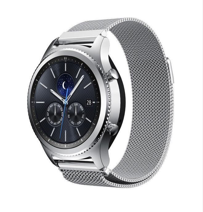 22mm 20 band For Samsung galaxy watch active 42 46 S3 s2 pebble time Ticwatch 1 2 E pro c2 amazfit 2s 1 pace bip metal strap in Watchbands from Watches