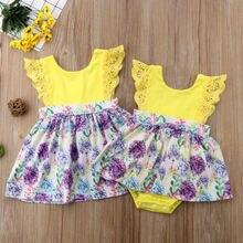 Одежда для новорожденных девочек; комбинезон с цветочным рисунком; Платье-комбинезон; наряд с оборками; комплект одежды для маленьких девочек; s От 0 до 6 лет