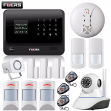 Fuers WiFi GSM GPRS Home Security Alarm System Door Sensors IOS Android Control WiFi Alarm System Smoke alarm motion detector