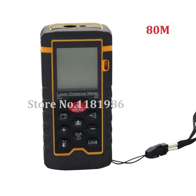HT-80 80m 262ft Laser Distance Meter Measuring Tool Rangefinder Tape Measure Area/Volume Range Finder with Painter Function  цены