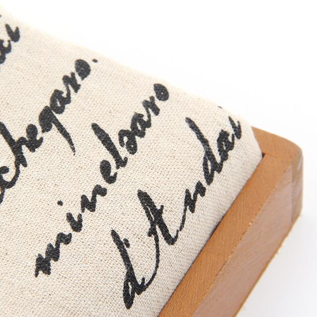 160*50 cm Natürliche Baumwolle Leinen Brief Muster Nähen Stoff ...