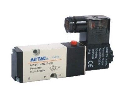 AirTac new original authentic solenoid valve 4M210-08 AC220V airtac new original authentic solenoid valve 4m220 08 dc24v