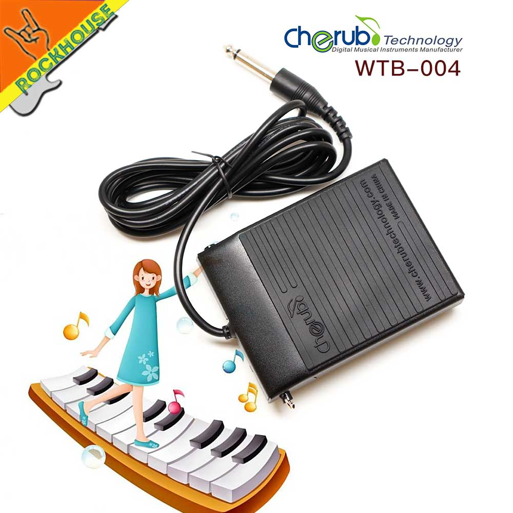cherub sustain pedal electric piano pedal universal for yamaha casio korg roland electronic. Black Bedroom Furniture Sets. Home Design Ideas