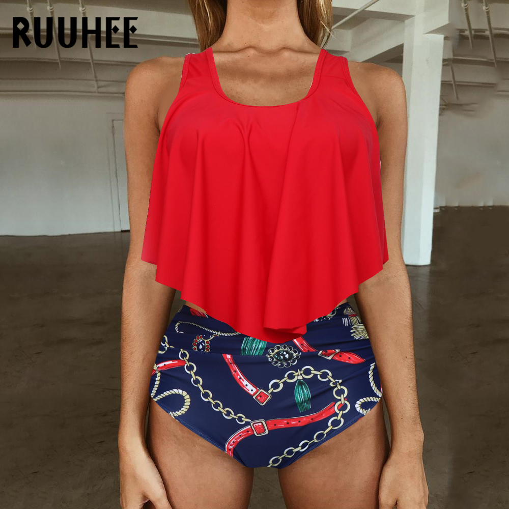 HTB1k8ofaLvsK1Rjy0Fiq6zwtXXaJ RUUHEE Bikini 2019 Swimsuit Swimwear Women High Waist Tankini Bikini Set Push Up Bathing Suit Women Beachwear Plus Size Swimwear