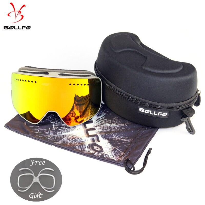 С возможностью быстрой смены объектива Магнитная лыжные очки с футляром двойные линзы UV400 Анти-Туман Лыжные очки для лыжного с