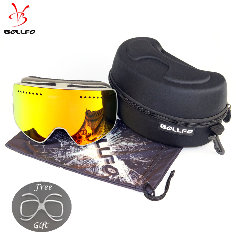 Quick-change Lens Magnetic Ski Goggles With Case Double Lens UV400 Anti-fog Ski Glasses Snow Glasses Adult Snowmobile Spectacles