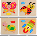 Retail Baby Children Educational Wooden Toys Puzzle Kids 15*15cm brinquedos educativos toy Puzzles for children