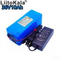 LiitoKala nuevo paquete de batería de litio de 36 v 10 Ah 18650 ion de litio 42 V 10000 mAh 10s4p de gran capacidad bms eléctrico cargador de bicicleta 2ah
