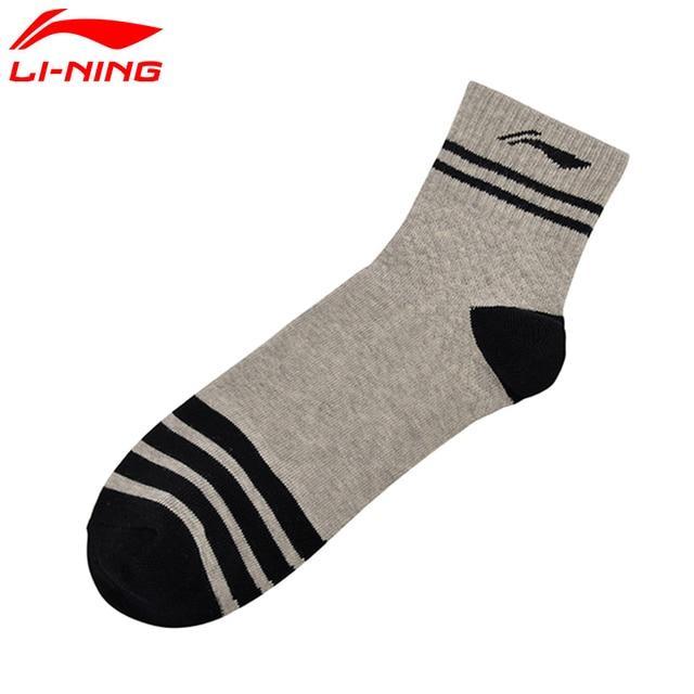 Li-Ning Men's Urban Sport Mid Cut Socks Comfort 80.9% Cotton 17.1% Nylon 2.0% Spandex LiNing Sports Socks AWSM001 NWM330