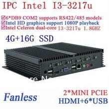 Процессор Intel i3 мини гигабитный сетевой NM70 6 USB 6 COM 4 г оперативной памяти 16 г SSD WIN7 WIN8 LINUX 7 * 24 ч.