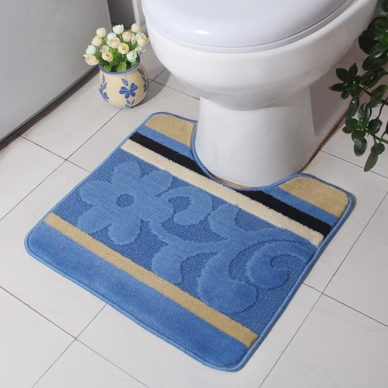 39*49cm Rugs And Carpets Bathroom  Mat Mat Toilet Floor ...