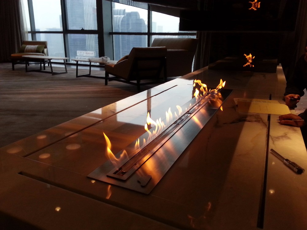 On Sale 60'' Eco Flame Bio Ethanol Fireplace With Stainless Steel Burner 16L