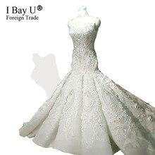 Robe De Mariage Luxury Bride Dresses 2019 Dubai Mermaid Wedding Gowns Court  Train Pearl Appliques Beaded Wedding Dresses 934b6fa7c