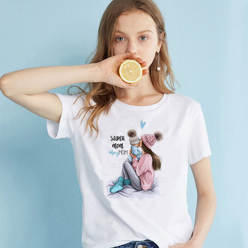 CZCCWD Summer 2020 Mother's Day T Shirt Women Harajuku Kawaii Super Mom Tshirt Leisure Comfortable Vogue Aesthetic Lovely Tshirt image