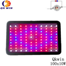 Hot sale Qkwin 1000W Led grow light 100x10W high power double chip led hydroponics lighting system full spectrum