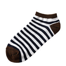 Srogem 1Pairs Casual Standard Women Striped Comfortable Stripe Cotton Sock Slippers Short Ankle Socks dinosaur calcetas boho(China)