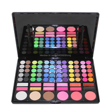 Pro 78 Color Eyeshadow Palette With Blusher/Contour Powder/Lipgloss Fashion Eye Shadow Makeup Set 3 Model serseul portable 78 color cosmetic makeup eye shadow blusher palette with smudger