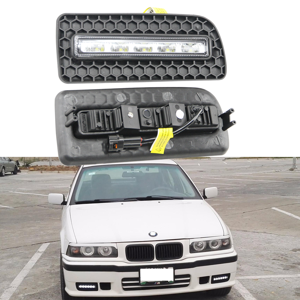 2x Car LED DRL kit For BMW E36 3 Series 318 320 323 325 328i 92-99 High Power Xenon White Fog Cover Daytime Running Lights Kits bmw 318 в москве