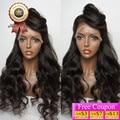 8А Бразильские Волосы Девственницы Парик Фронта Шнурка Объемной Волны Полный Шнурок Человека волос Парики Для Чернокожих Женщин 130 Плотность Естественный Цвет U Часть Парик