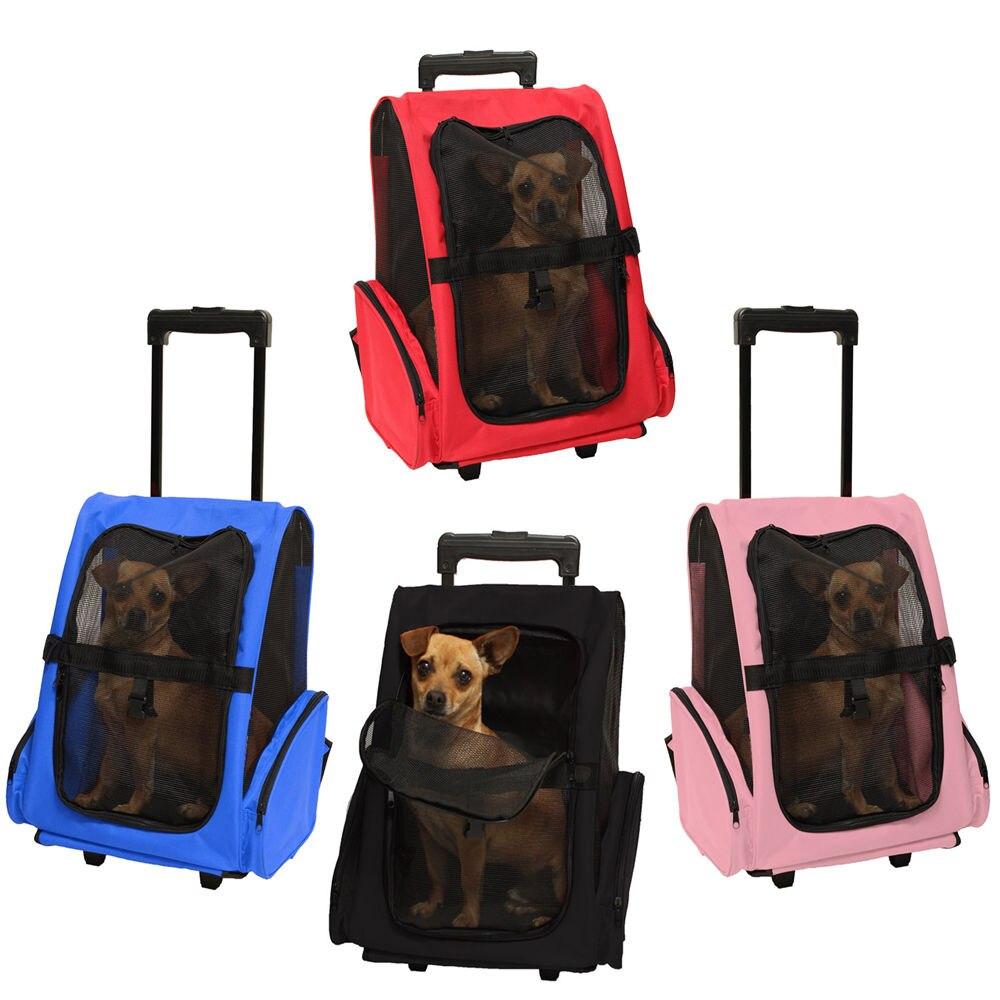 애완 동물 캐리어 개 고양이 롤링 백 팩 여행 항공 휠 수하물 가방 파우치 배낭 애완 동물 여행 캐리어 가방-에서강아지 캐리어부터 홈 & 가든 의  그룹 1