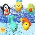 5 pçs/set cores do bebê brinquedos de banho brinquedos educativos material de pvc e de verde