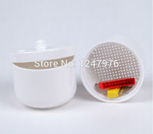 Dental materials plastic box bur disinfection box white box of glass products dental stainless box tray case holder for implant drill bur sterilization
