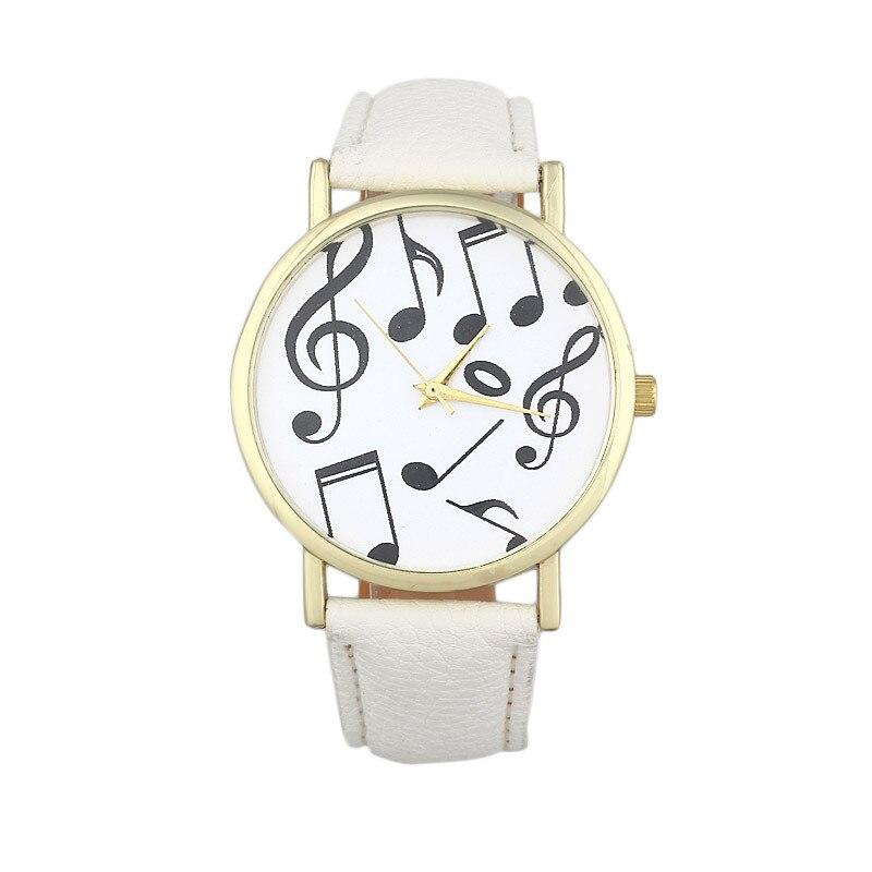 Splendid Kasual Catatan Musik Wanita Pria Kulit Band Analog Quartz Dial  Wrist Watch 35dec0d1f1