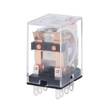 цена на HH52P MY2NJ Mini Electromagnetic Relays AC 220V AC 110V DC 24V DC 12V 5A Power Relay Switch General Purpose DPDT 8 Pin LED
