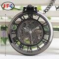 Roma cubierta estéreo clásico reloj de bolsillo mecánico reloj de cadena manual de moda retro masculinos damas tabla de colección B002