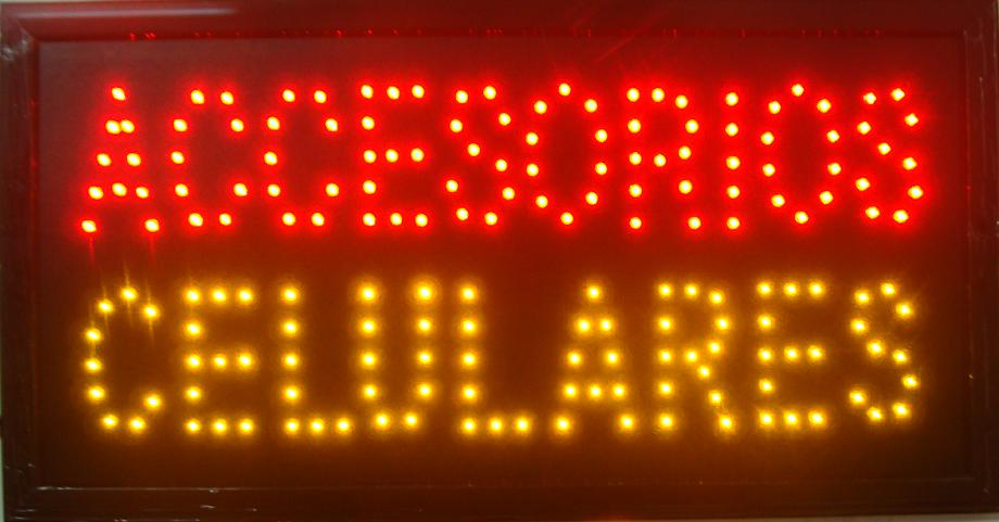 2017 hot sale customed 10X19 inch indoor Ultra Bright accesorios celulares store led Neon open lighted Sign Wholesale
