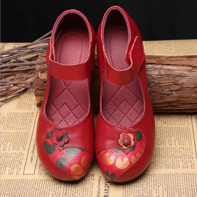 Artı Boyutu 35-41 Blok Topuklu deri ayakkabı Kadın Pompaları 2019 Siyah Kırmızı Mor Topuklu Mary Jane Ayakkabı Bayanlar Düğün parti ayakkabıları
