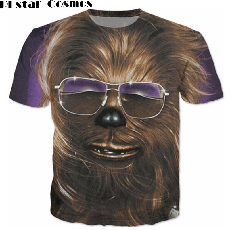 PLstar Cosmos Chewbacca Star Wars T-Shirt Women Men Fashion Clothing 3d Print shirt Tees Summer Style Casual tshirts