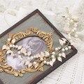 The bride headdress Baroque  leaf Pearl Wedding Dress hair accessories soft headband hair band 2383