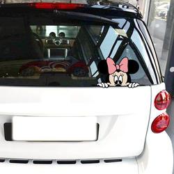 Aliauto автомобильные аксессуары Микки Мышь Минни выглядывает мультфильм смешной Стикеры и этикета для мотоцикла Volkswagen Golf Ford Focus