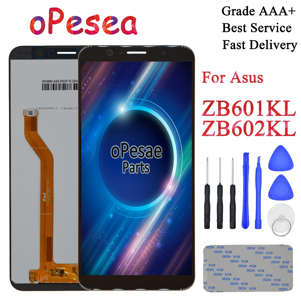 oPesea 5.99'' For Asus ZenFone Max Pro ( M1 ) ZB601KL <font><b>ZB602KL</b></font> <font><b>LCD</b></font> Display Panel Touch Screen Digitizer Glass Sensor Assembly image