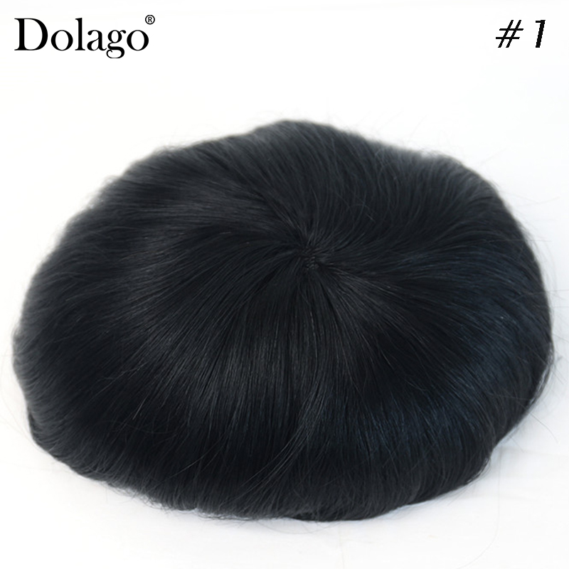 Durable Hairpieces Lace Thin PU Replacement System For Men Fine Mono 7x10 Toupees Human Hair Dolago Natural Remy Hair