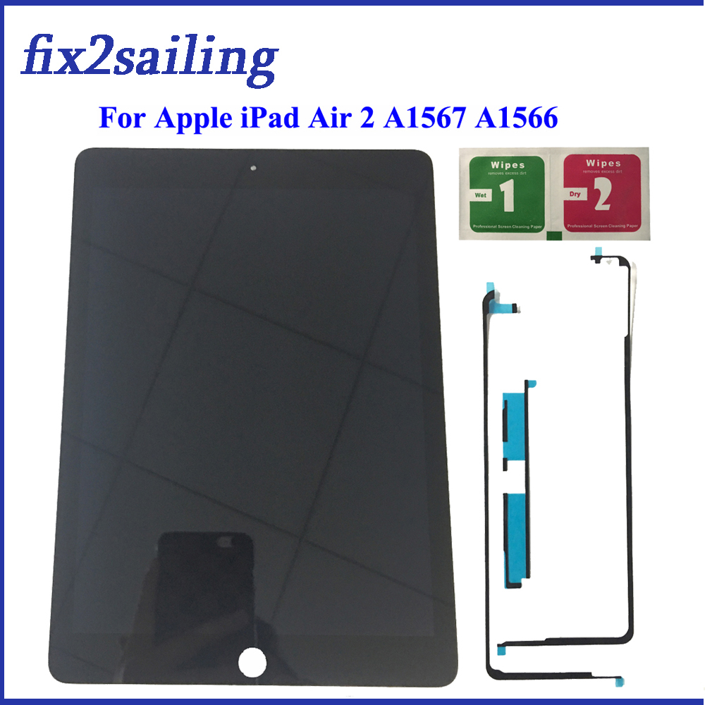 9.7 ''Nouvelle Pour Apple iPad 6 Air 2 A1567 A1566100 % New Grade 100% écran lcd ensemble numériseur à écran tactile de Remplacement