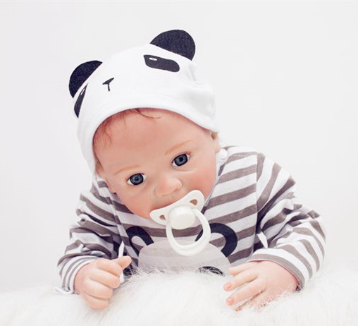 New 55cm Soft Silicone Reborn Baby Doll Toy Lifelike With Nipple Vinyl Newborn Boy Baby-Reborn Doll Play House Toy Birthday Gift children 22 early factory supply new soft vinyl reborn baby dolls silicone toy gift new education boy baby doll 55cm