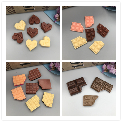 Free shipping!Mixed Resin kawaii chocolate .Resin flatback Cabochon for phone decoration,DIY .14*20mm