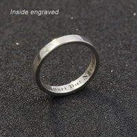 Personalized Custom Name Ring Women 925 Solid Silver Engagement Ring Custom Name Ring Wedding Female male
