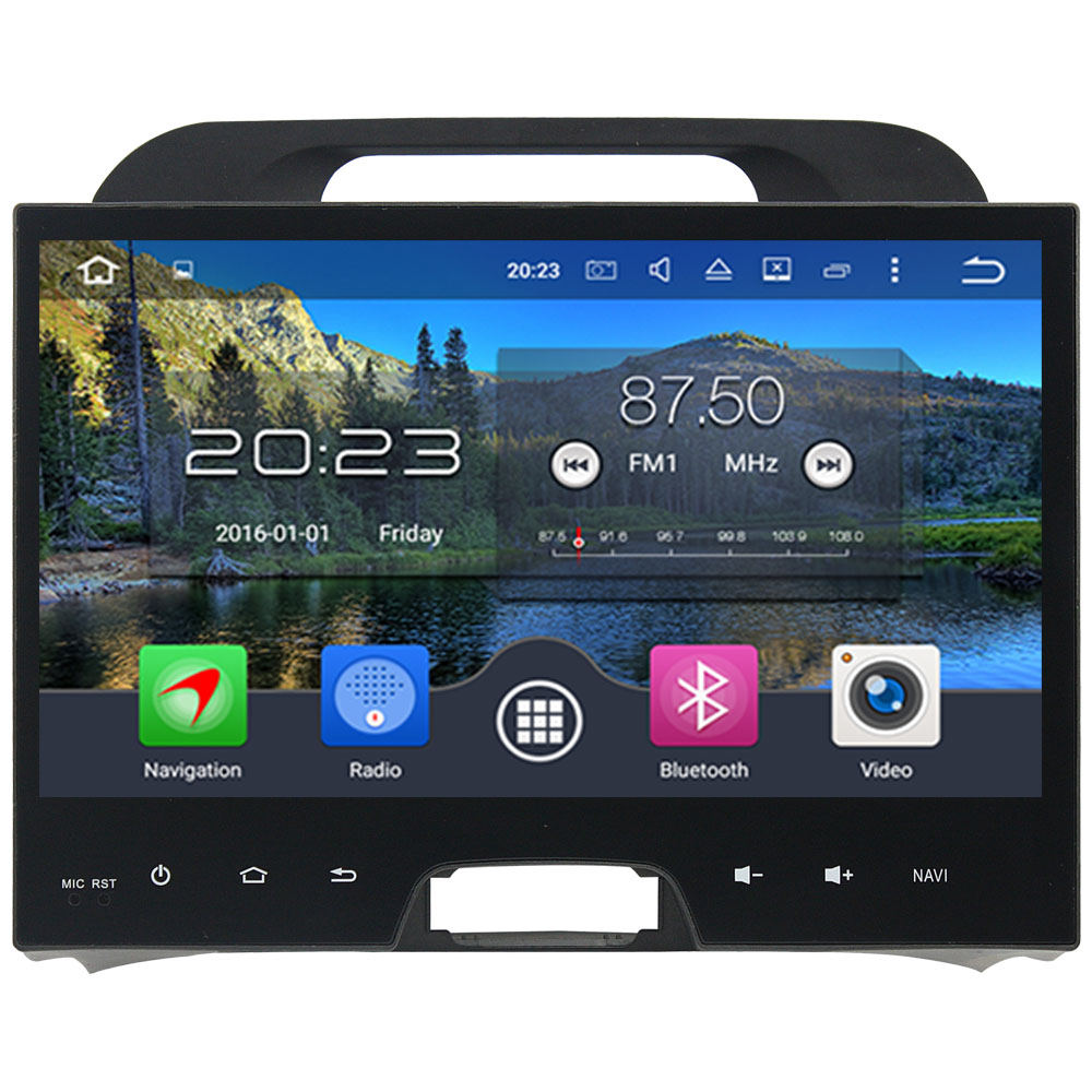 4GB RAM Android 6.0.1 Octa Core 2 Din 10.1'' inch Multimedia HD Touch Screen Bluetooth MP3 Car radio For Kia Sportage 2010 2012