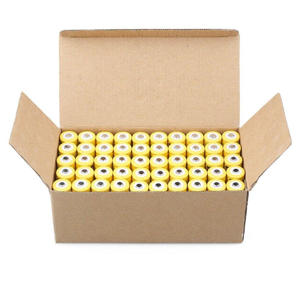 Cncool 50 pcs 3.7 V 9900 mah 18650 batterie au lithium batterie rechargeable au lithium pour les piles d'accumulateurs de torche de lampe de poche