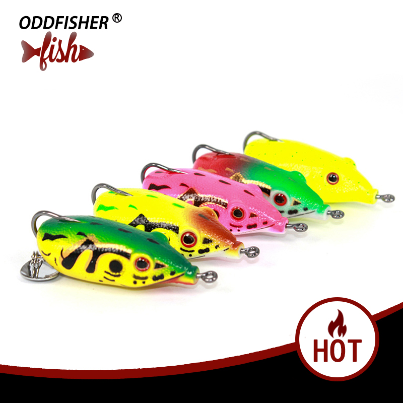 Fishing Frog Lures 6cm/13g Topwater Lure Plastic Soft Tube Bait Profession Fishing Tackle Lifelike Crankbait Frog Baits For Bass